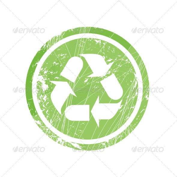 Recycling Symbol for Stamp and Labels - Decorative Symbols Decorative