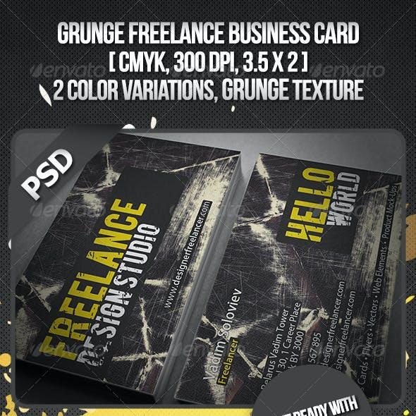 Grunge Freelance Business Card