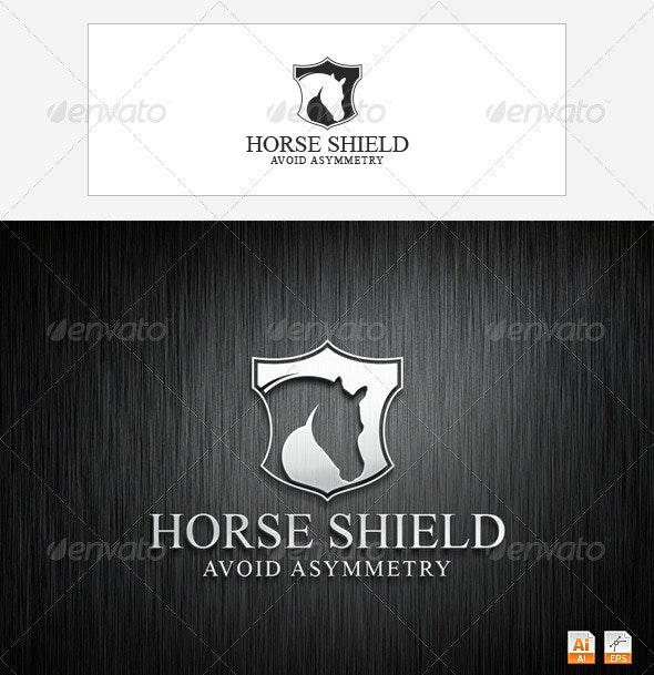 Horse Shield - Animals Logo Templates