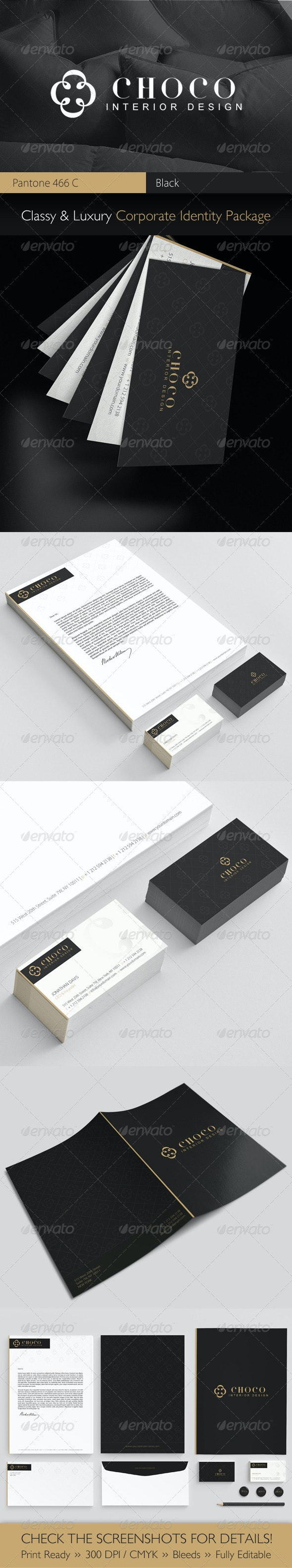 Choco Luxury Corporate Identity Package  - Stationery Print Templates