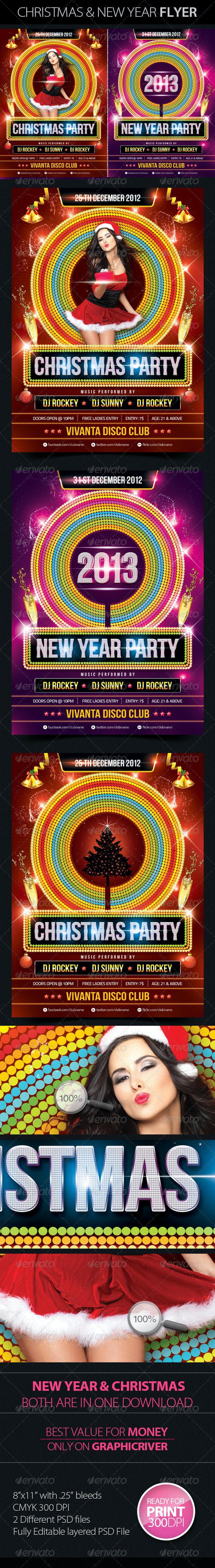 Christmas & New Year Party Flyers - Clubs & Parties Events