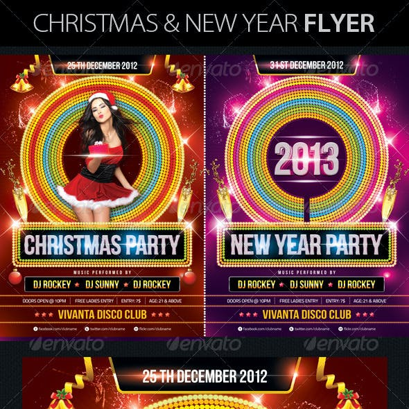 Christmas & New Year Party Flyers