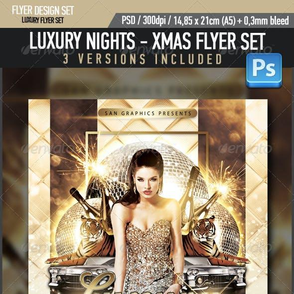 Luxury Nights Xmas Flyer