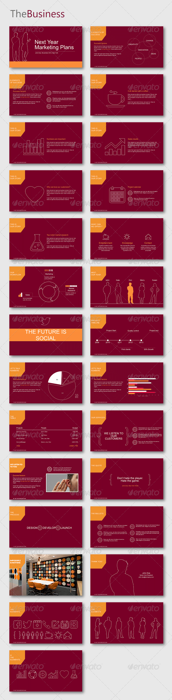 TheBusiness Powerpoint Template - Business PowerPoint Templates