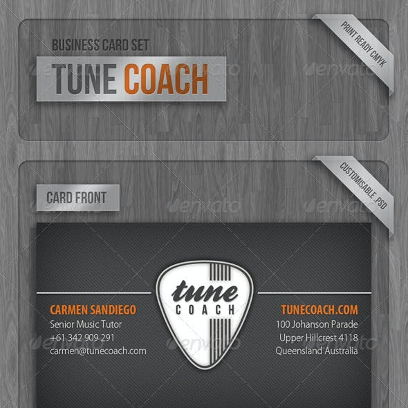 Tune Coach Business Card Set