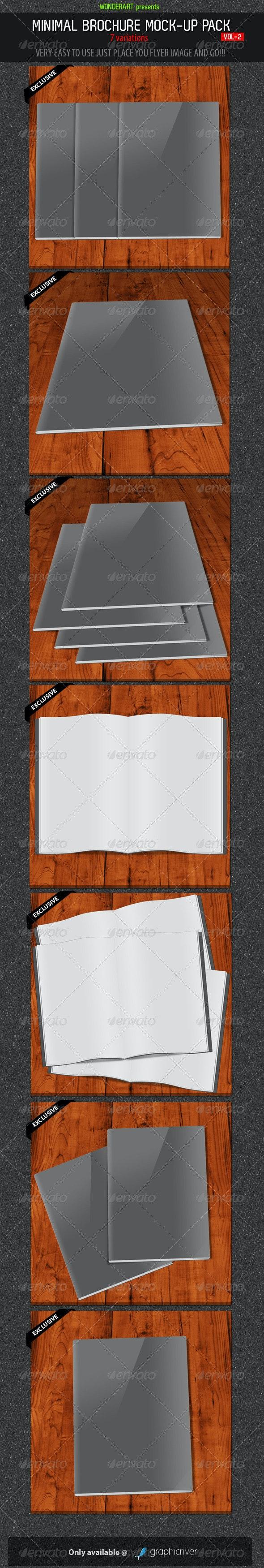 Minimal Brochures Mock-up Pack - 2 - Brochures Print