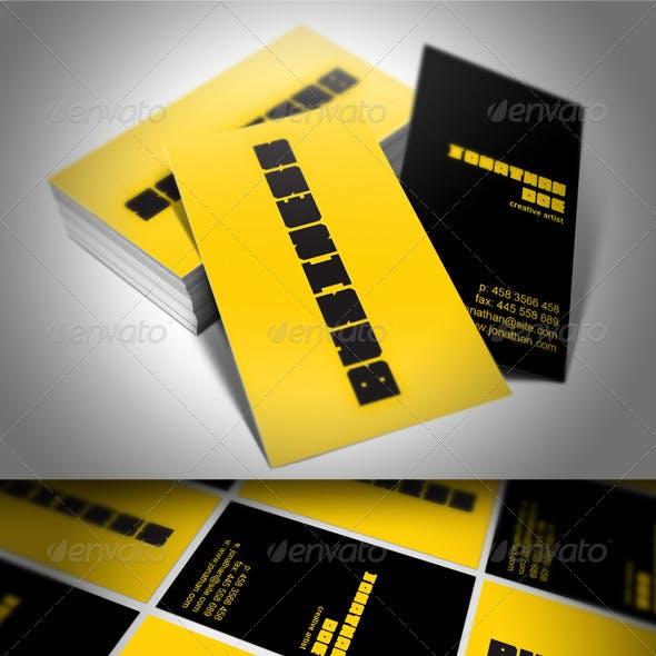 Creative Artist Studio Business Card