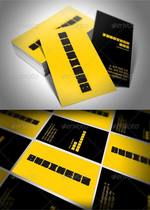 Creative Artist Studio Business Card - Corporate Business Cards