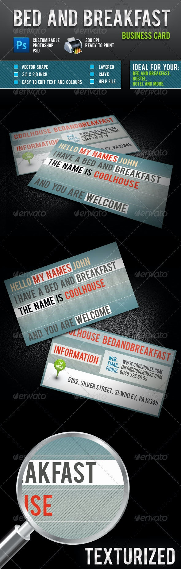 Bed And Breakfast Business Card - Creative Business Cards