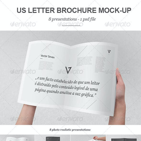 US Letter Brochure Mock-up