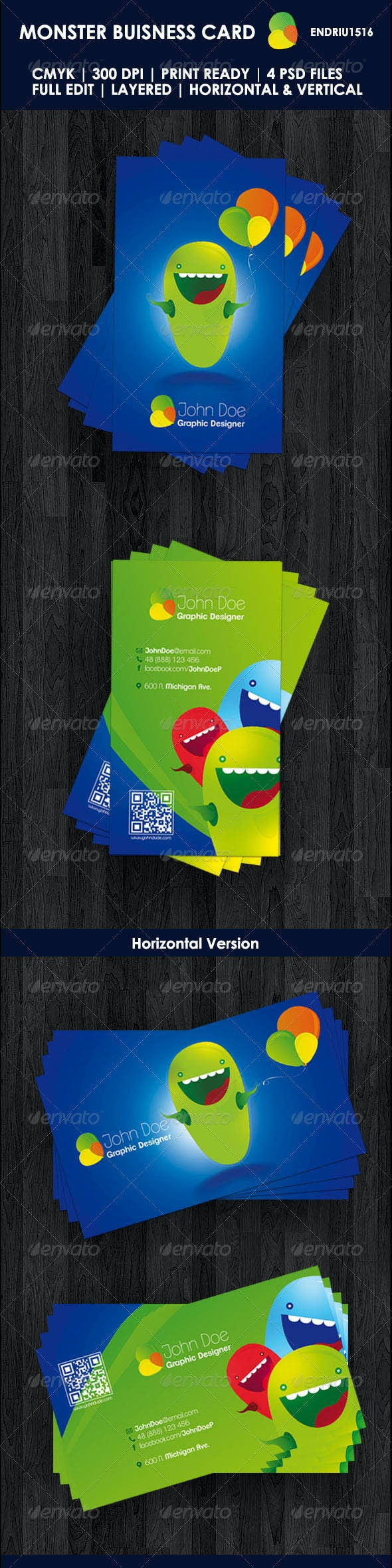 Monster Buisness Card - Creative Business Cards