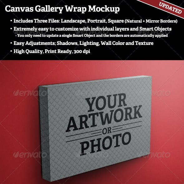 Canvas Gallery Wrap Mockup