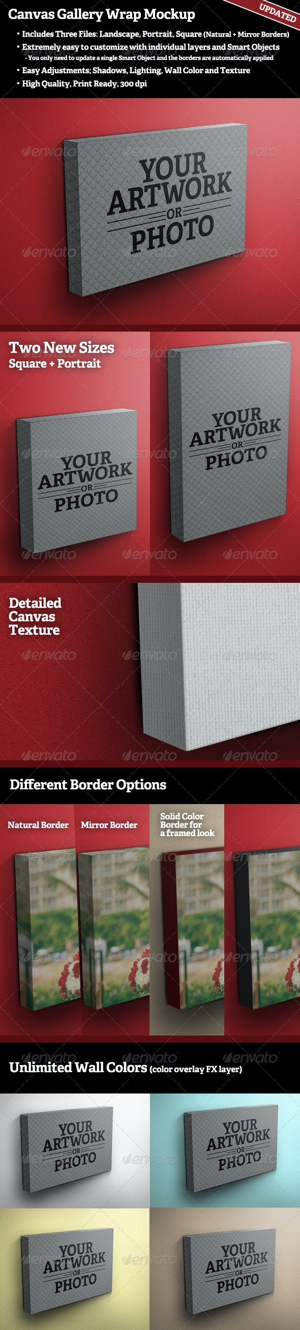 Canvas Gallery Wrap Mockup - Miscellaneous Displays