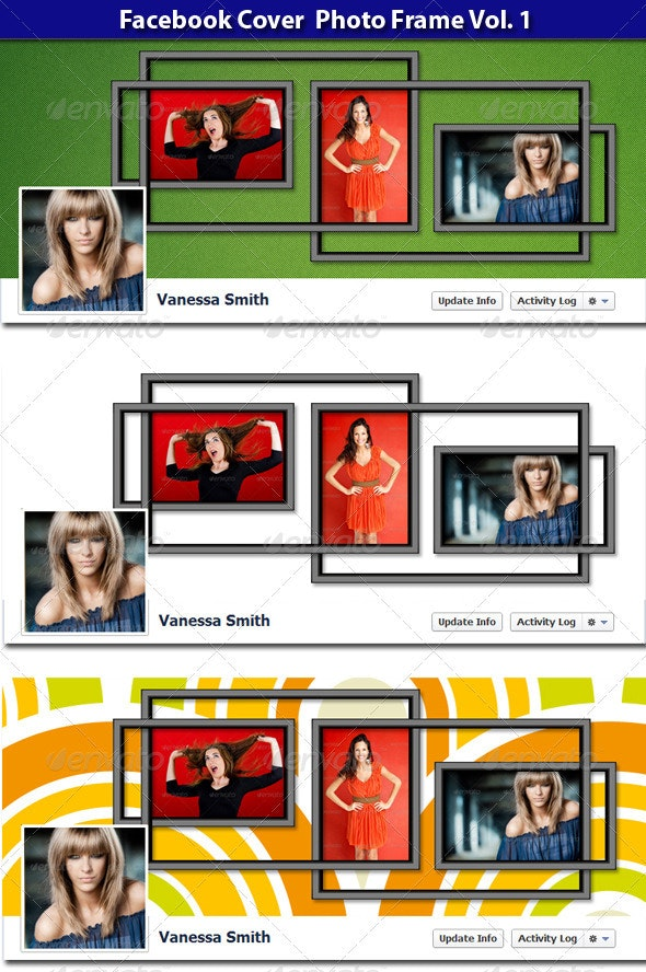 FB Cover Photo Frame vol. 1 - Facebook Timeline Covers Social Media