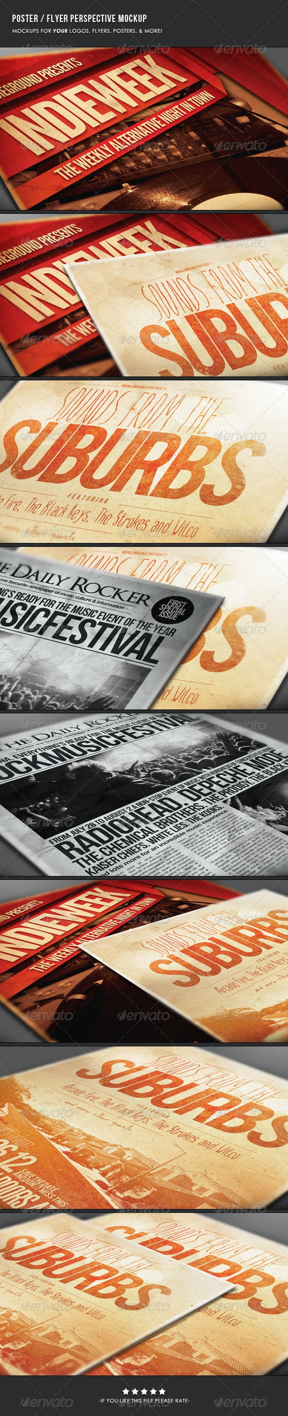 Poster & Flyer Perspective Mockup - Flyers Print