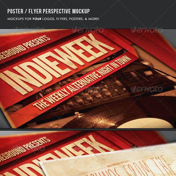 Poster & Flyer Perspective Mockup