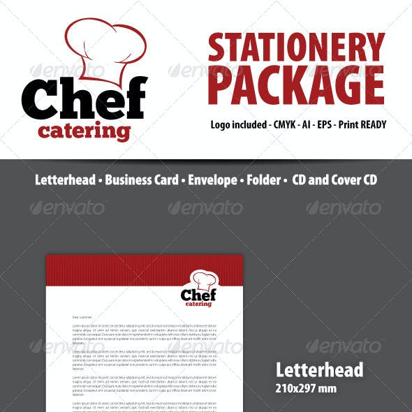 Chef Catering Stationery Package