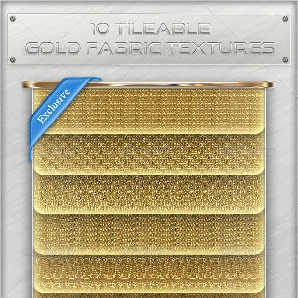 10 Tileable Gold Fabric Textures