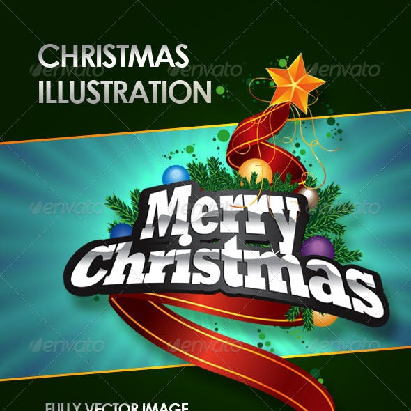 Fully Vector Christmas Illustration