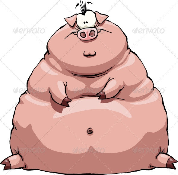 Fat Pig - Animals Characters