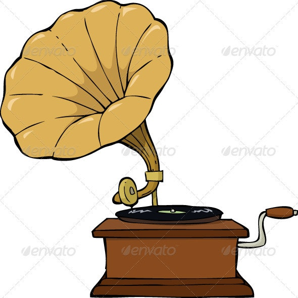 Gramophone - Man-made Objects Objects