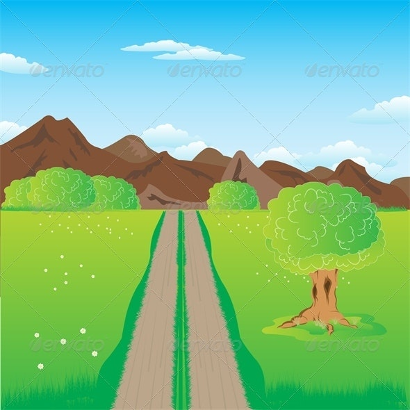 Road in Mountains - Landscapes Nature