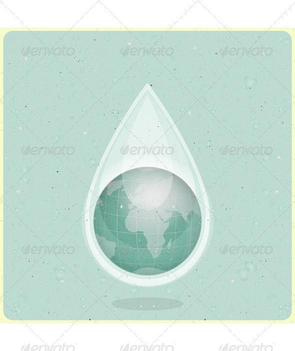Eco Water Planet - Conceptual Vectors