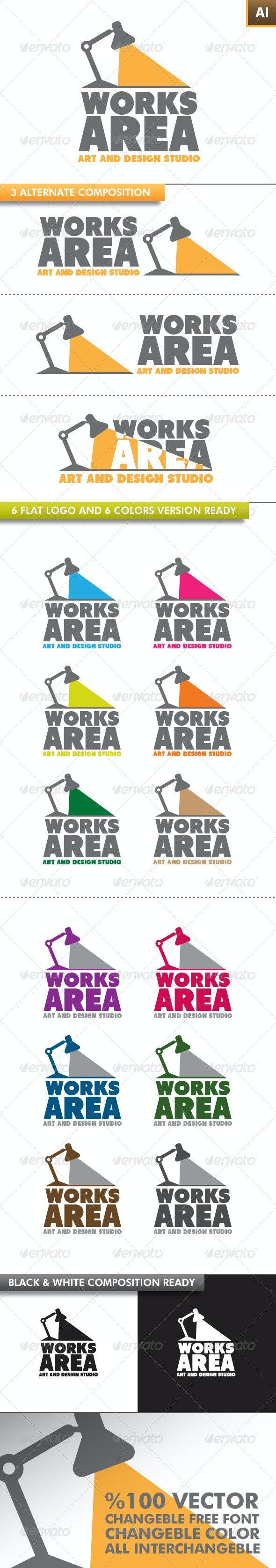Works Area Logo - Objects Logo Templates