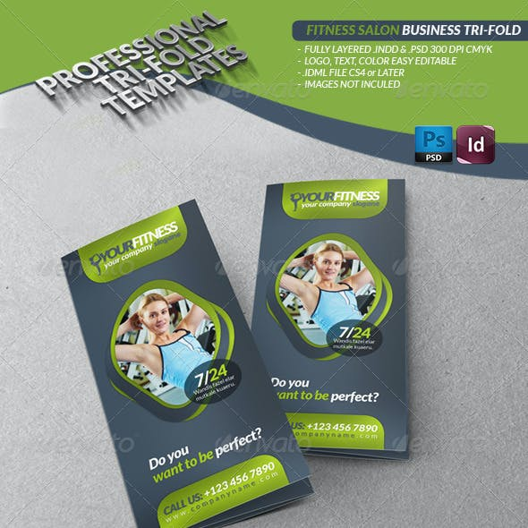 Fitness Salon Business Tri-Fold