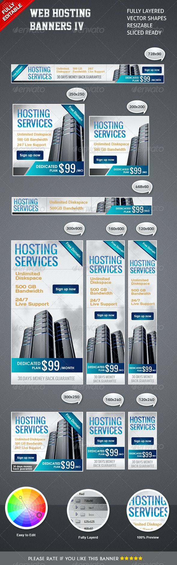 Banner Hosting IV - Banners & Ads Web Elements