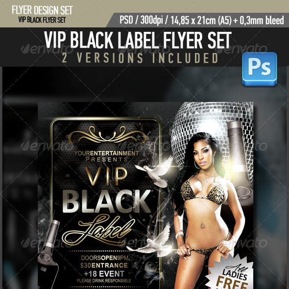 VIP Black Label Flyer
