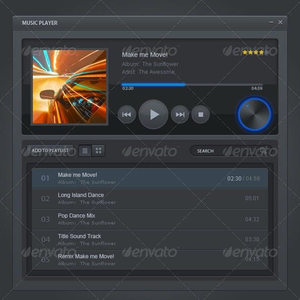 Classic Music Player UI