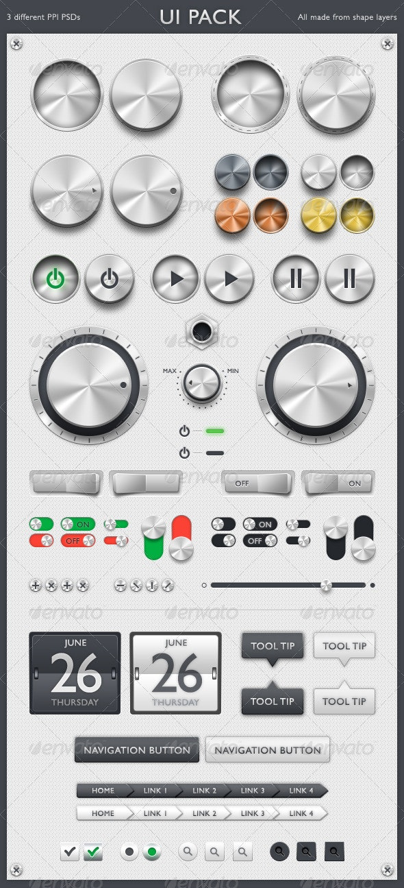 GUI Kit - User Interfaces Web Elements