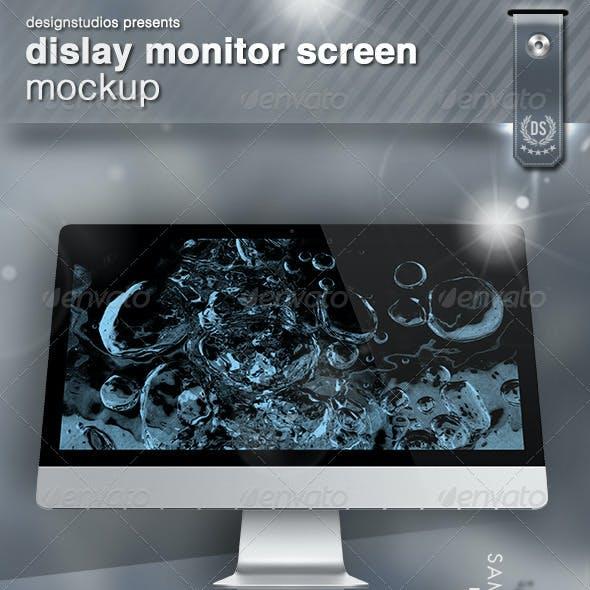 Dislay Monitor Screen Mock-Up