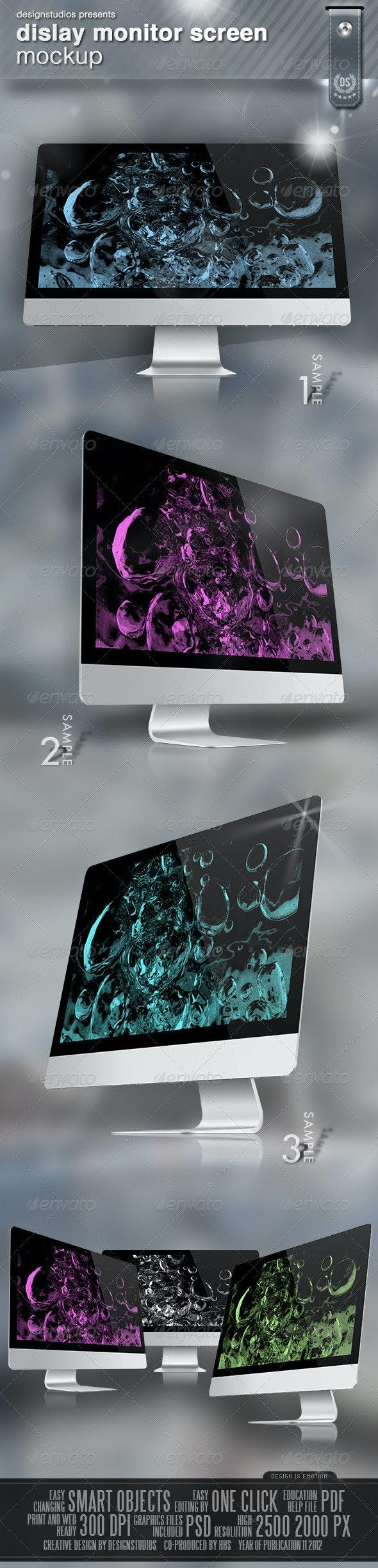 Dislay Monitor Screen Mock-Up - Monitors Displays
