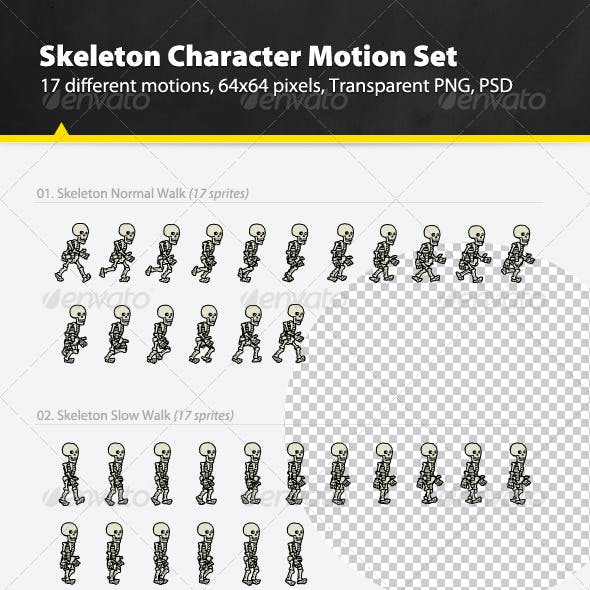 Skeleton Character Motion Set
