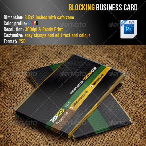Blocking Business Card