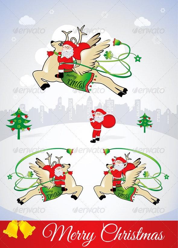 Santa Claus Bring Lots of Wealth & Happiness - Christmas Seasons/Holidays
