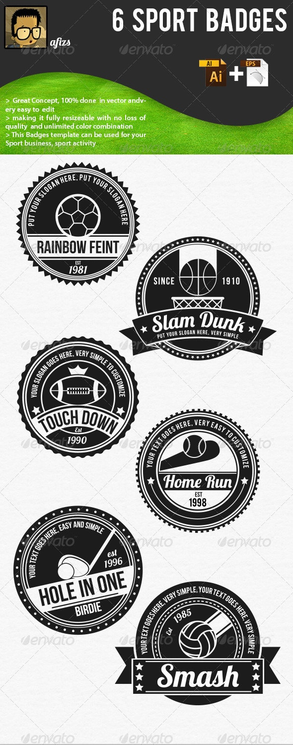 Sport Badges - Decorative Symbols Decorative
