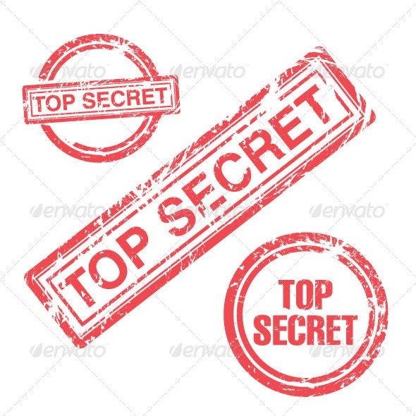 Top Secret Stamp Collection - Decorative Symbols Decorative