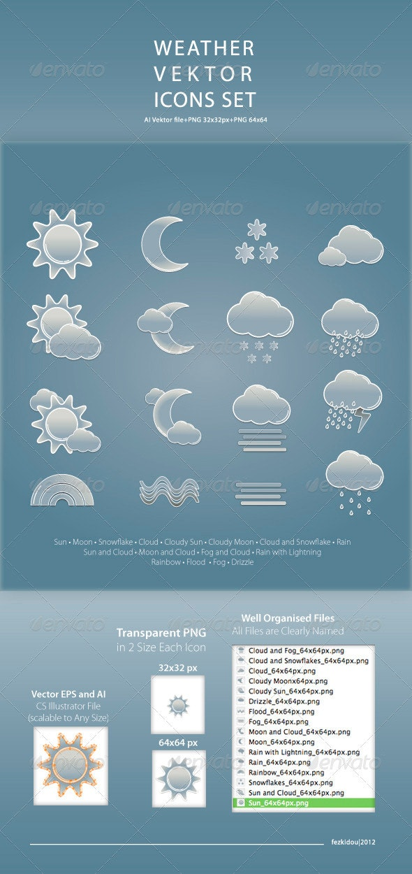 Wheather Vector Icon Set - Icons