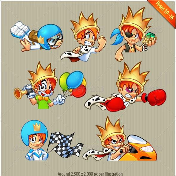 Bling Series 10-16: mascot design