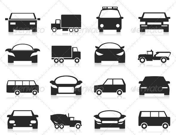 Car Icons 3 - Miscellaneous Vectors