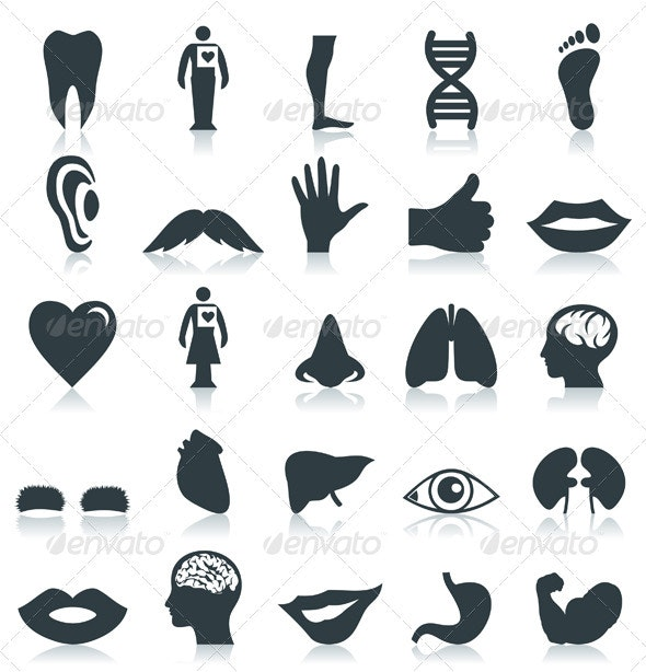 Body Part Icons - People Characters