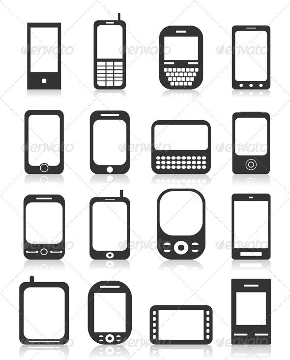 Phone Icons 4 - Communications Technology