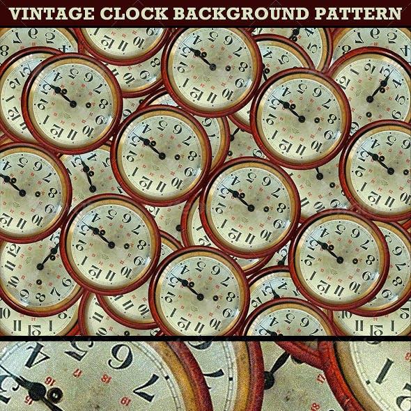Vintage Clocks Background Pattern