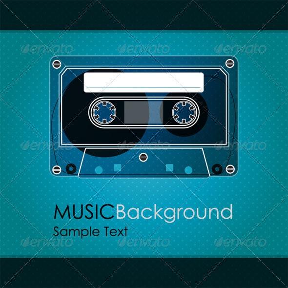 Vintage Cassette Tape - Retro Technology