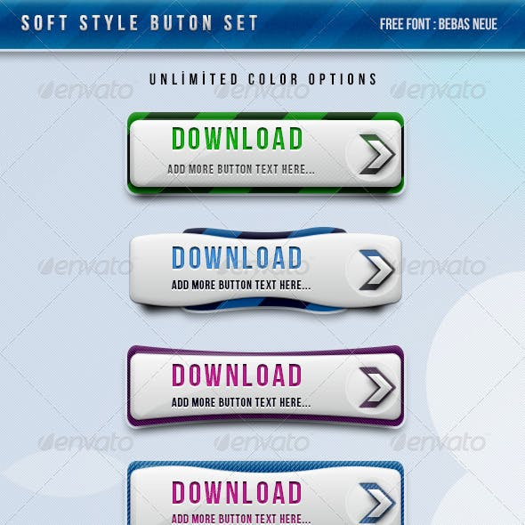 Soft Style Button Set !!!! Unlimited Colors