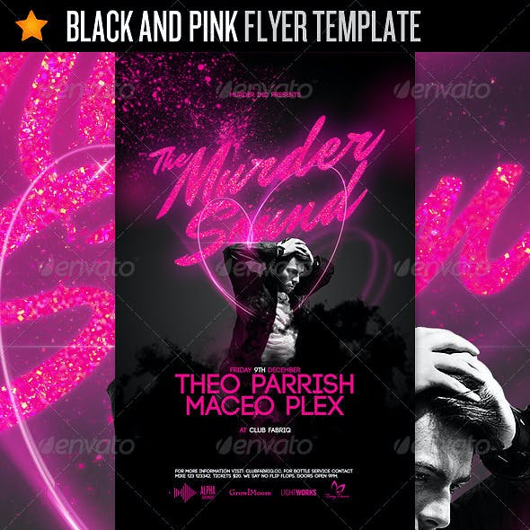 Black And Pink - Flyer Template