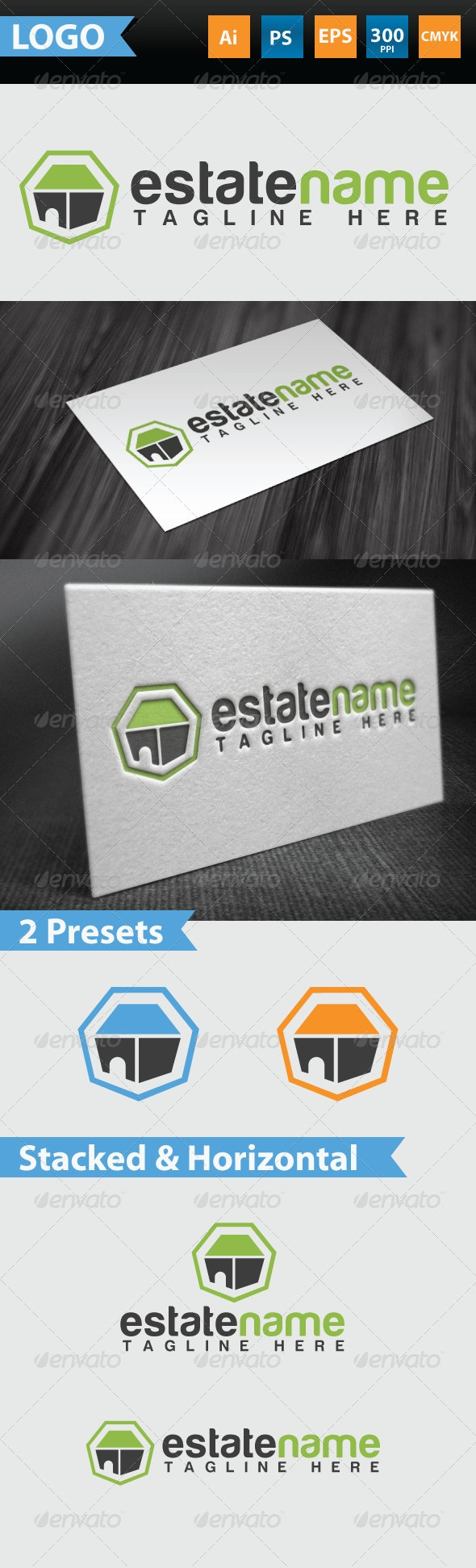 Estate Logo - Buildings Logo Templates